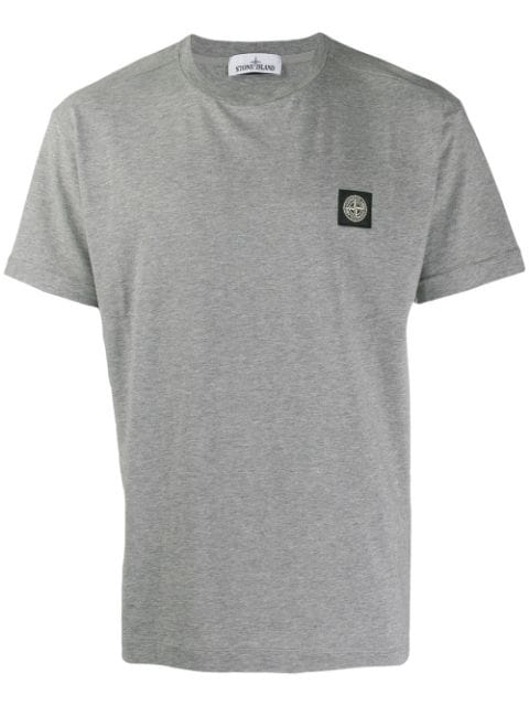 Stone Island Logo T-shirt In Grey
