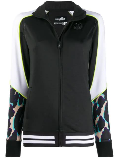 Plein Sport Panelled Track Jacket In Black