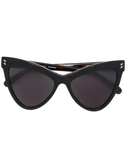 Stella Mccartney Eyewear Angular Cat Eye Sunglasses - Brown