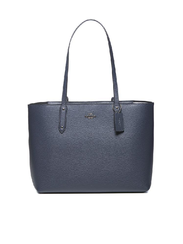 Coach Central Zipped Tote Bag In Blue