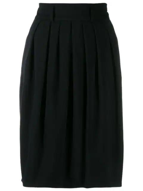 Jil Sander '1990s Pleated Skirt In Black
