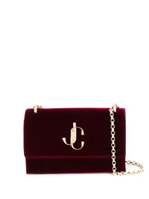 Jimmy Choo Mini Velvet Bohemia Clutch Bag In Bordeaux