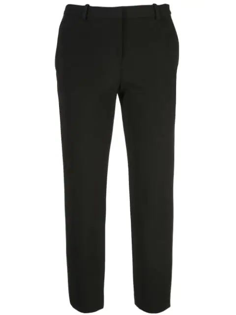 Theory Women's Sleek Flannel Cropped Tailored Trousers In Black