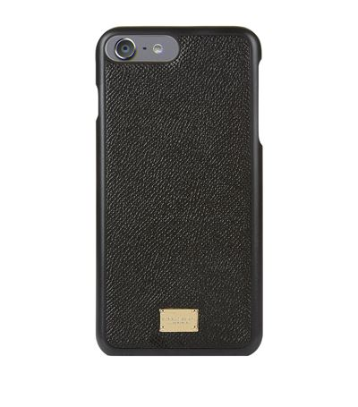 release info on e65fd 02ec1 Grained Leather Iphone 7 Plus Case in Black