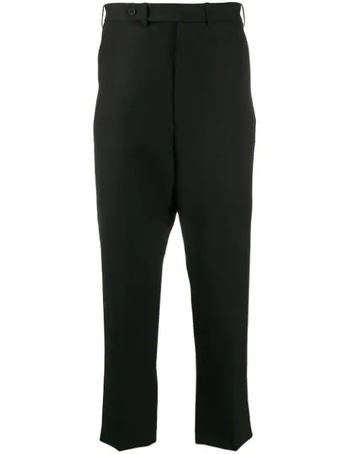 Haider Ackermann Drop-crotch Cropped Trousers In 099 Black