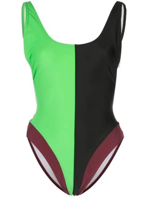 Cynthia Rowley Heather Swimsuit In Green