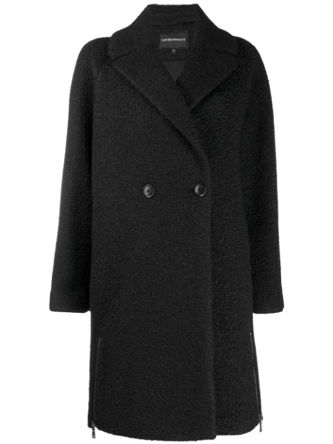 Ea7 Emporio Armani Single-breasted Coat In Black