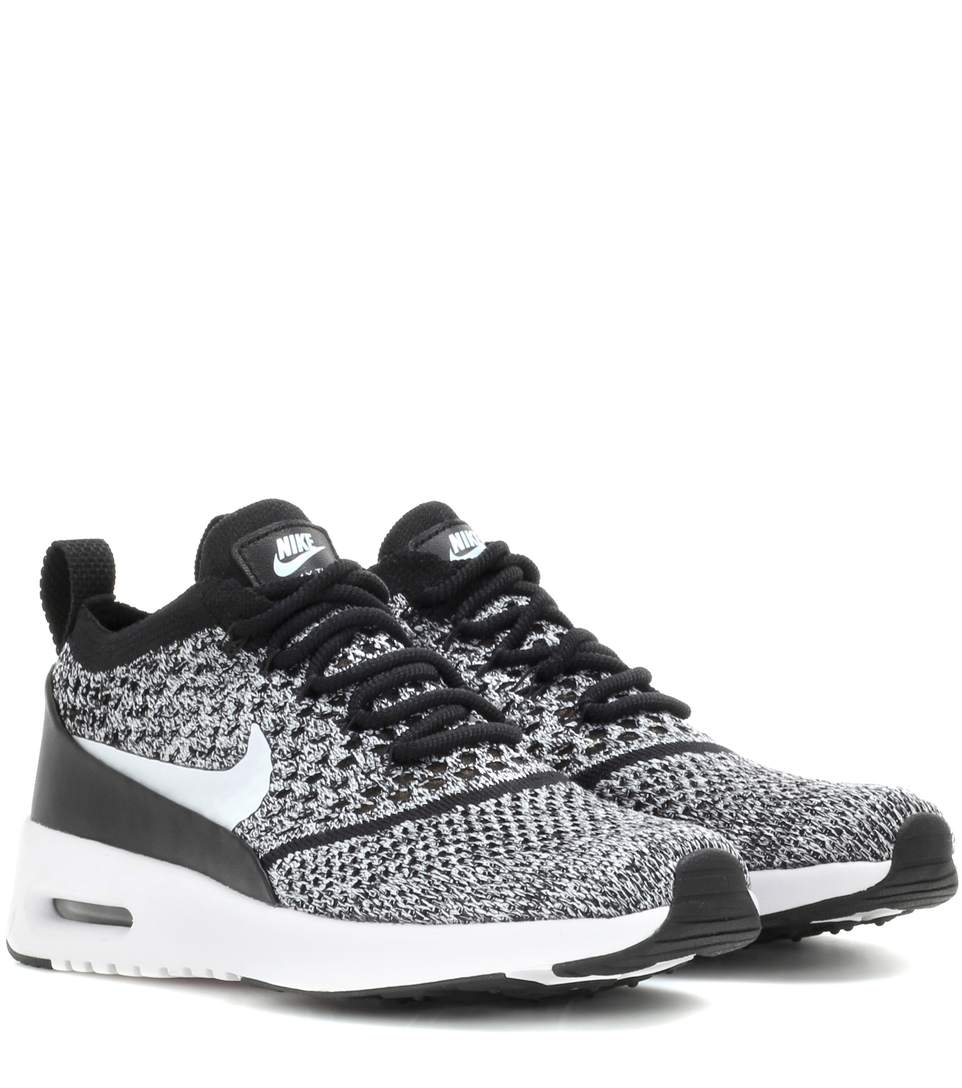 Nike Air Max Thea Ultra Flyknit Sneakers In Llack
