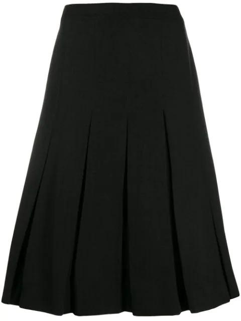 Simone Rocha Pleated Skirt In Black