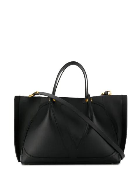 Valentino Garavani Vlogo Tote Bag In Black