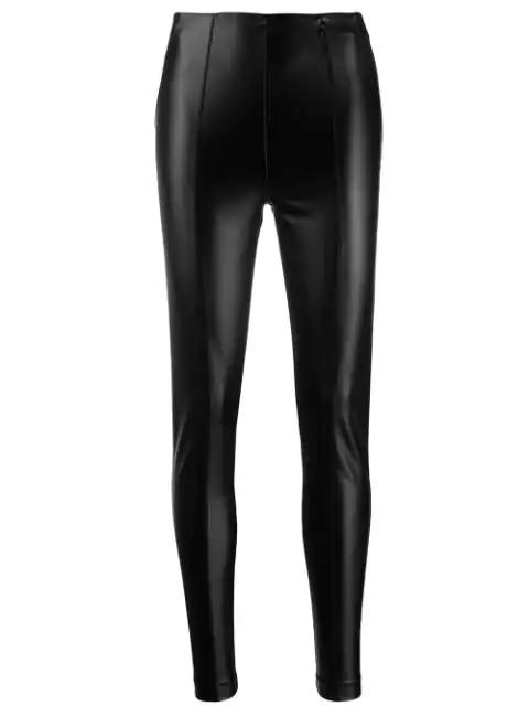 Patrizia Pepe Faux Leather Leggings In Black