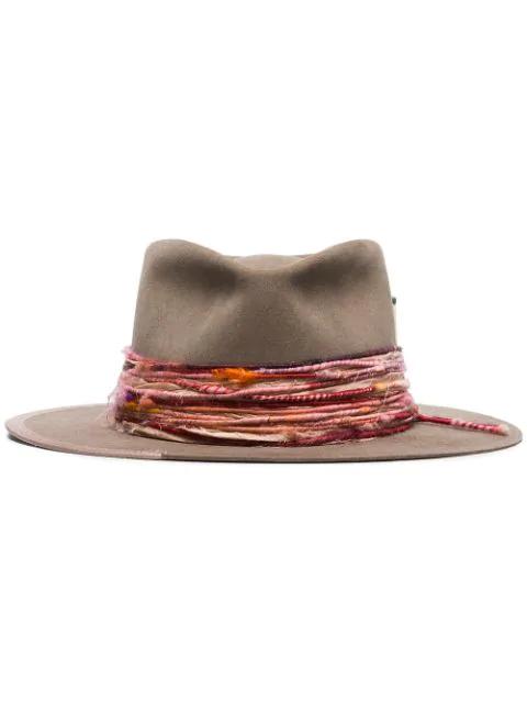 Nick Fouquet Banyan Fedora Hat In Brown