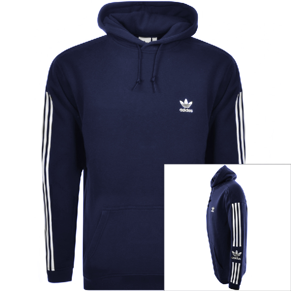 Adidas Originals Lock Up Logo Hoodie Navy