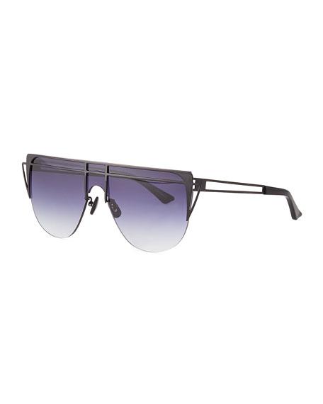 For Art's Sake Gradient Shield Sunglasses In Black