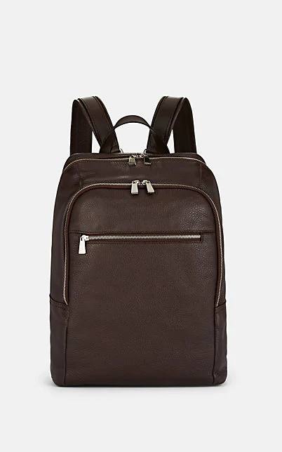 Barneys New York Leather Backpack - Brown