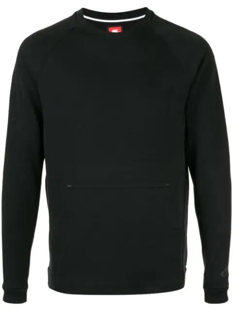 Nike Sportswear Tech Fleece Crewneck Sweatshirt In Black