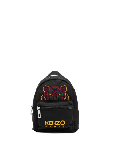 Kenzo Embroidered Tiger Backpack In 99C  Black
