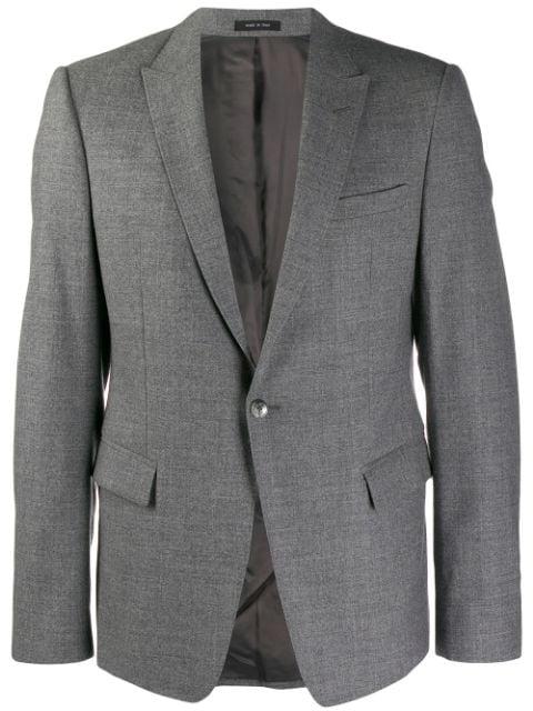 Pre-owned Giorgio Armani 1990's Classic Blazer In Grey