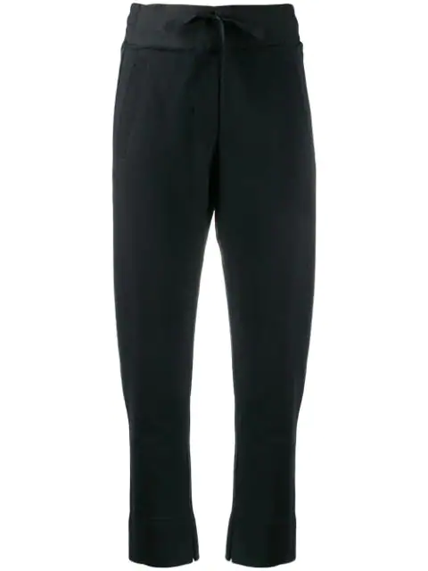 Ann Demeulemeester Drawstring Waist Trouserss In 099 Black