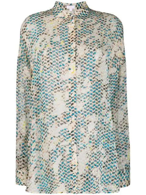 Lala Berlin Kufiya Snake Shirt In Neutrals