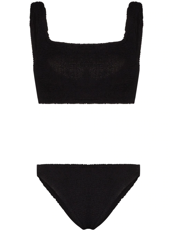 Hunza G Cropped Bikini Set In Black