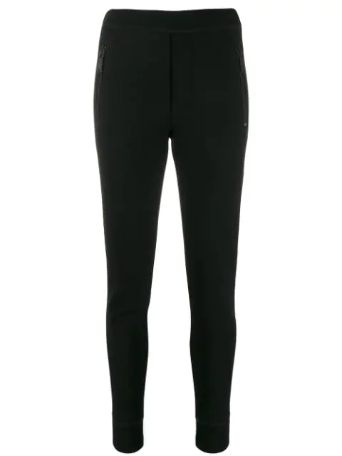 Dsquared2 Slim High-waist Trousers In Black