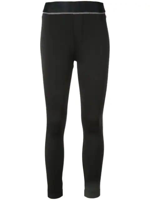J Brand Dellah High-Rise Leggings In Black