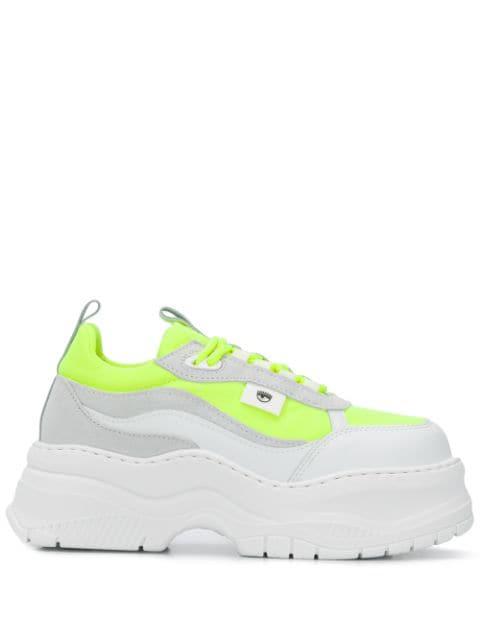 Chiara Ferragni Chunky Sole Sneakers In White