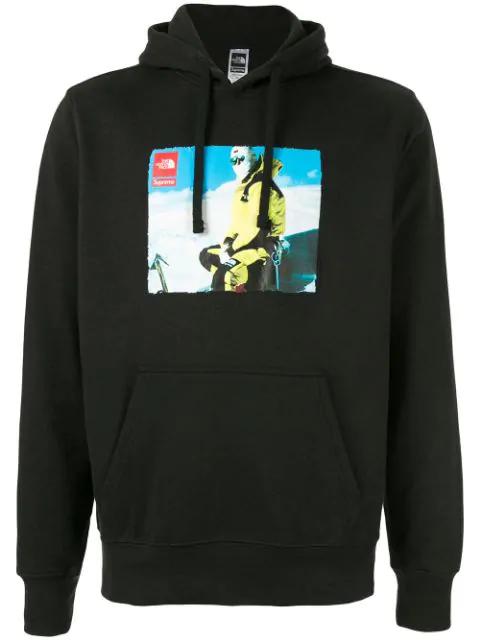 Supreme Tnf Photo Hooded Sweatshirt In Black