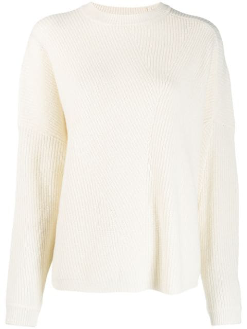 Lala Berlin Ribbed Knit Sweater In White