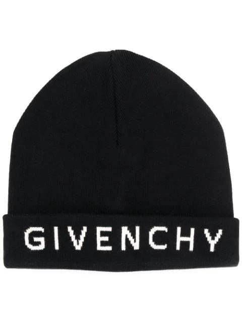 Givenchy Logo Beanie Hat In Black