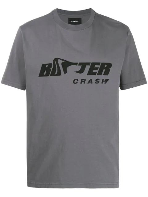 Botter Logo Print T-shirt In Grey