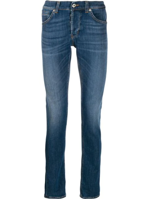 Dondup Slim Fit Jeans In Blue