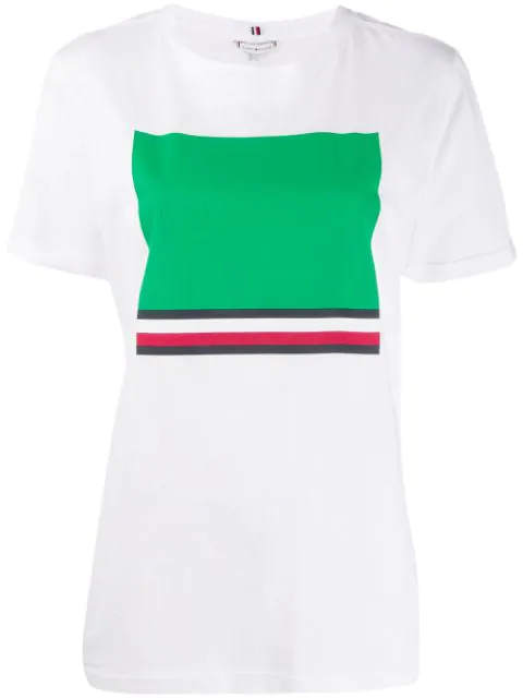 Tommy Hilfiger Regular Fit Print T-Shirt In White