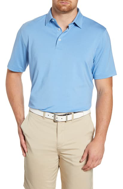 Johnnie-o Birdie Classic Fit Performance Polo In Neptune