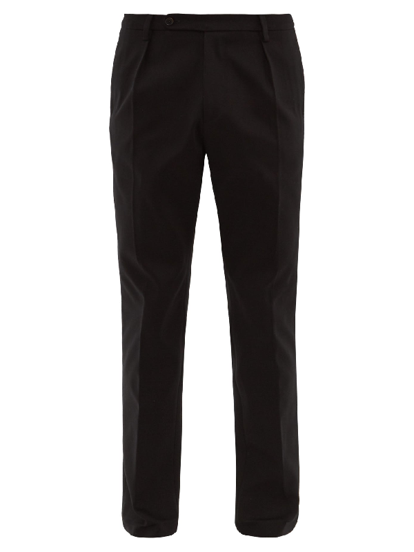 Holiday Boileau Nico Cotton Relaxed-fit Chino Trousers In Black