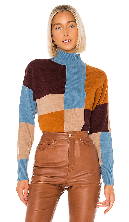 Equipment Voulaise Color-Blocked Sweater In Amphora Multi