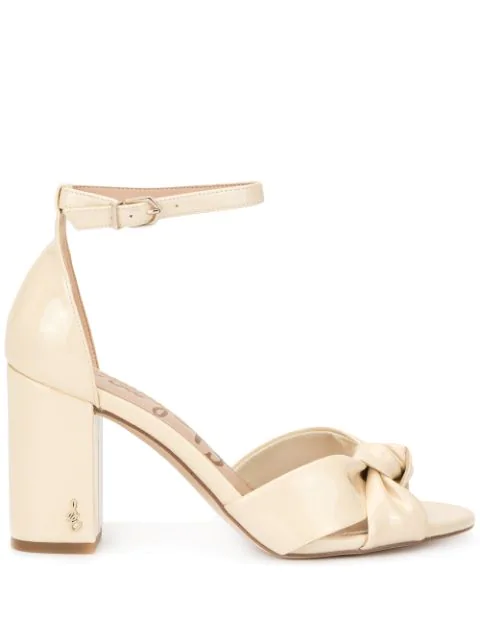 Sam Edelman Odina Knot Detail Sandals In Yellow