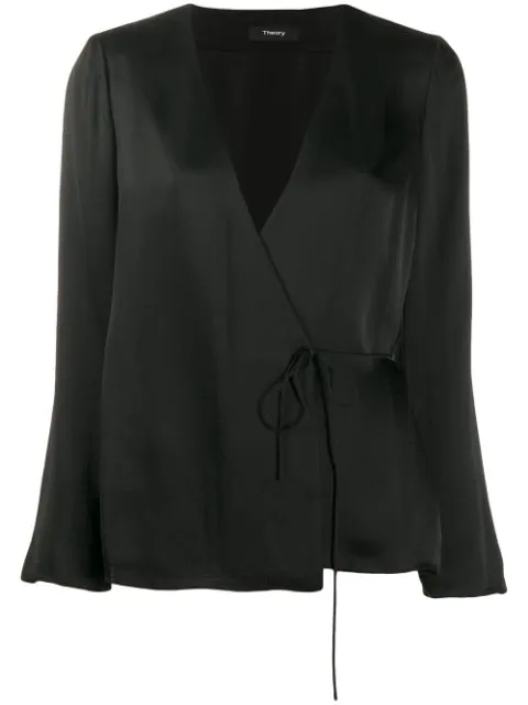Theory Soft Wrap Jacket In Black