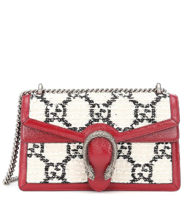 Gucci Dionysus Supermini Gg Tweed Crossbody Bag In Multicoloured