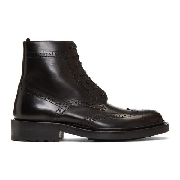 Saint Laurent Corry Boots In 1000 Black