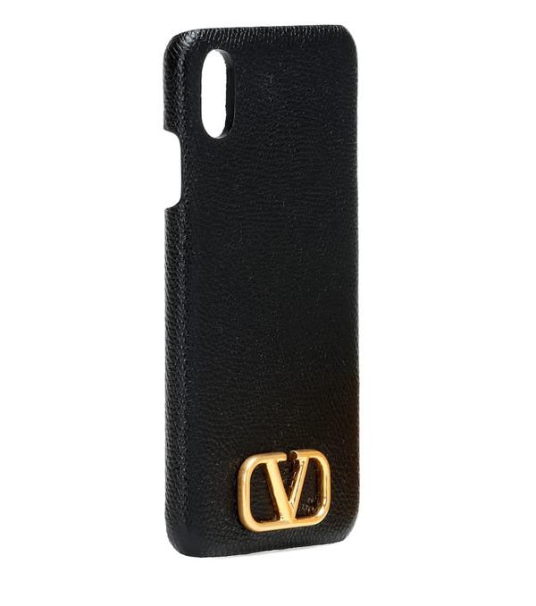 Valentino Garavani Vlogo Iphone Xs Max Case In Black