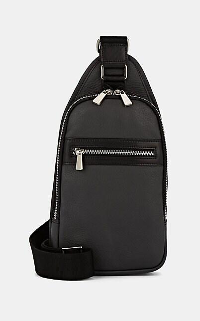 Barneys New York Leather Belt Bag - Gray