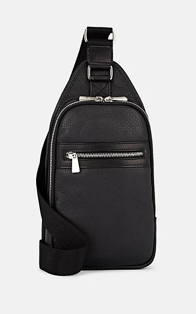Barneys New York Leather Belt Bag - Black
