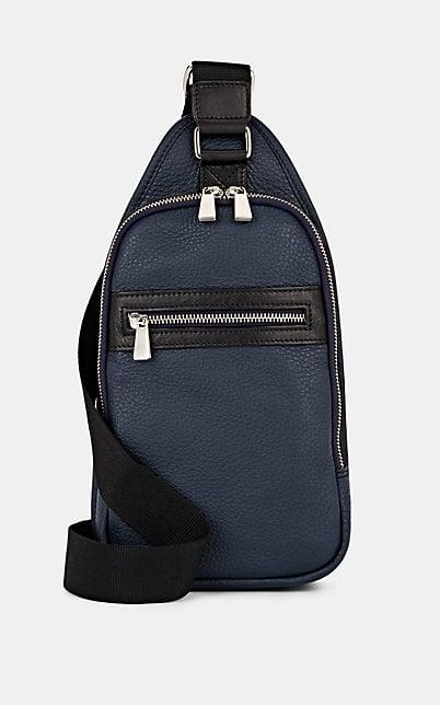Barneys New York Leather Belt Bag - Navy
