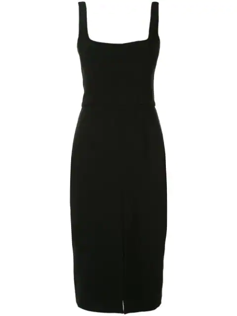 Dion Lee Fitted Corset Dress In Black