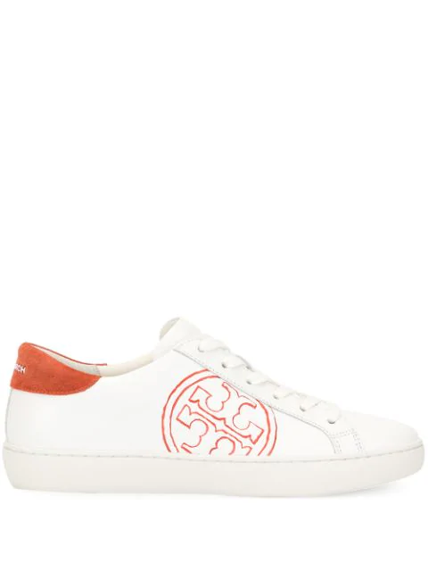 Tory Burch Leather Low-Top Sneakers In White