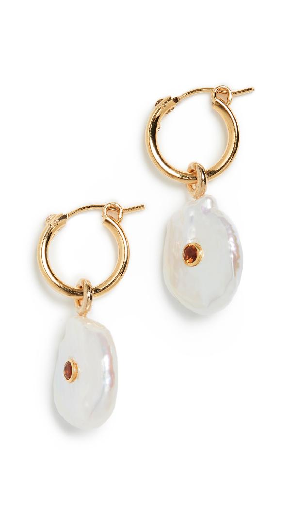 Lizzie Fortunato Pietra Earrings In Gold/Pearl