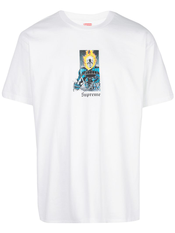 Supreme Ghost Rider T-shirt In White