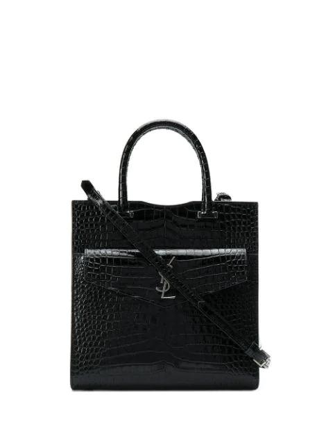 Saint Laurent Uptown Shoulder Bag In Black
